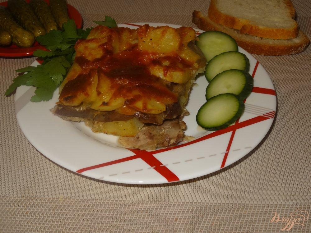 Фото приготовление рецепта: Мясо с картофелем по французски шаг №11