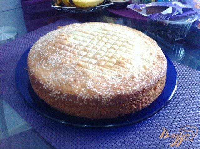 Фото приготовление рецепта: Апельсиновый бисквит шаг №7