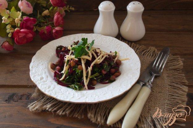фото рецепта: Свекольный салат с сыром без майонеза