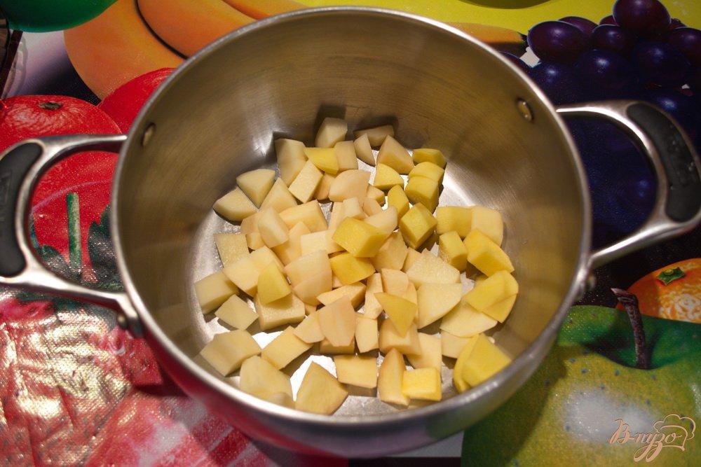Фото приготовление рецепта: Вкусный борщ со сметанной заправкой шаг №2