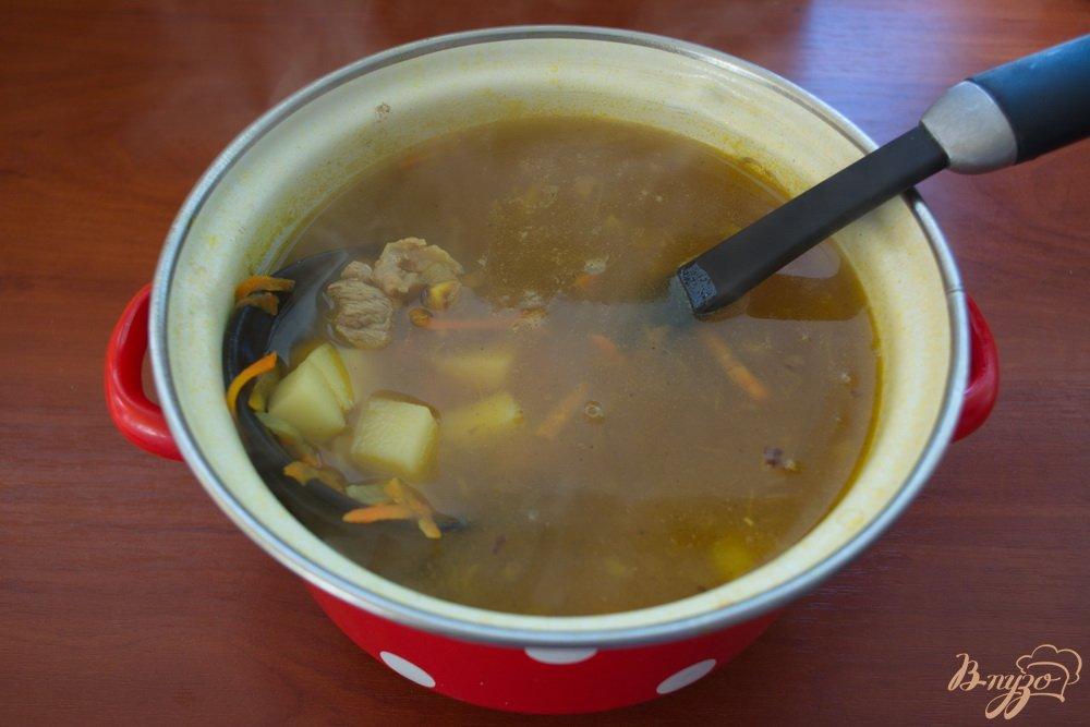 Фото приготовление рецепта: Легкий суп с мясом шаг №6