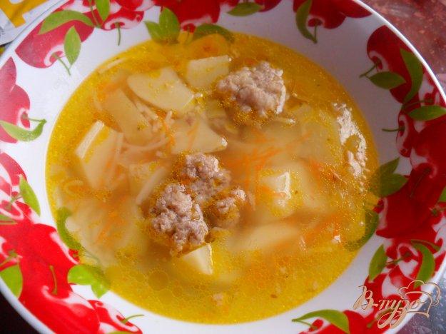 фото рецепта: Вермишелевый суп с фрикадельками
