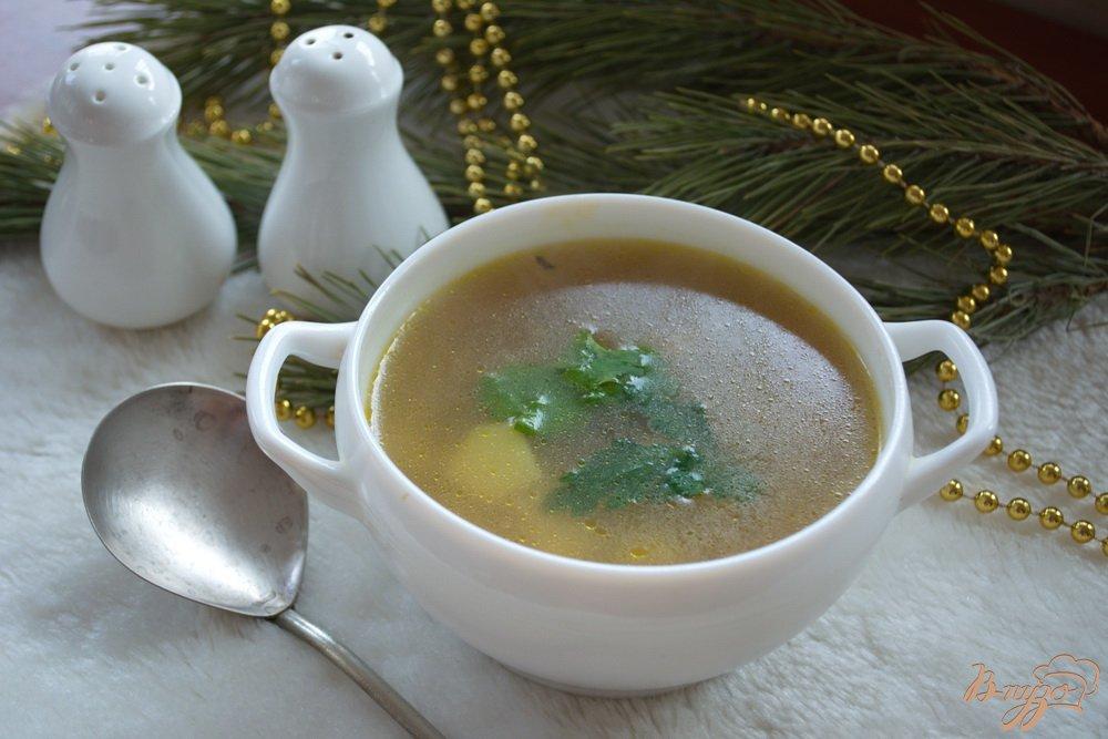 Фото приготовление рецепта: Рисовый суп с фаршем шаг №7