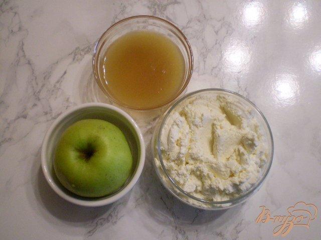 Фото приготовление рецепта: Творожок с печеным яблоком шаг №1