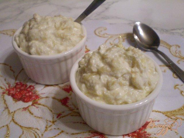 Фото приготовление рецепта: Творожок с печеным яблоком шаг №9