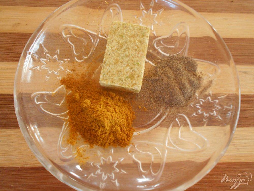 Фото приготовление рецепта: Блинчики с начинкой из грибов с карри шаг №3