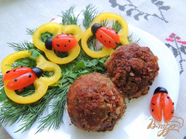 фото рецепта: Тефтели из гречки и грибов