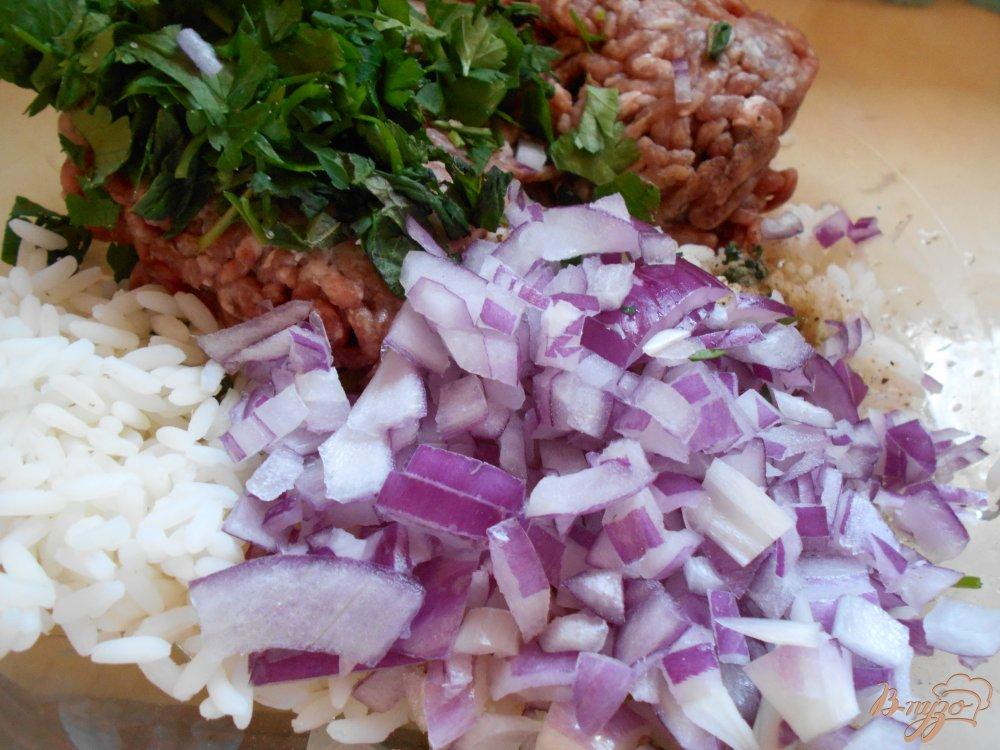 Фото приготовление рецепта: Греческие фрикадельки в яично-лимонном соусе шаг №3