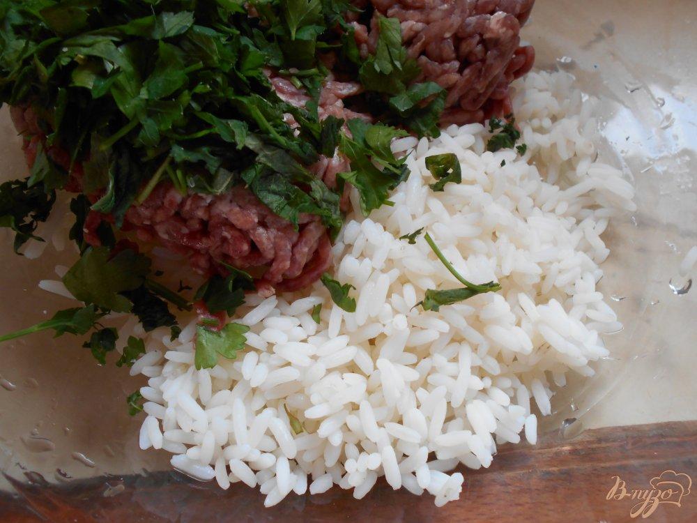 Фото приготовление рецепта: Греческие фрикадельки в яично-лимонном соусе шаг №1