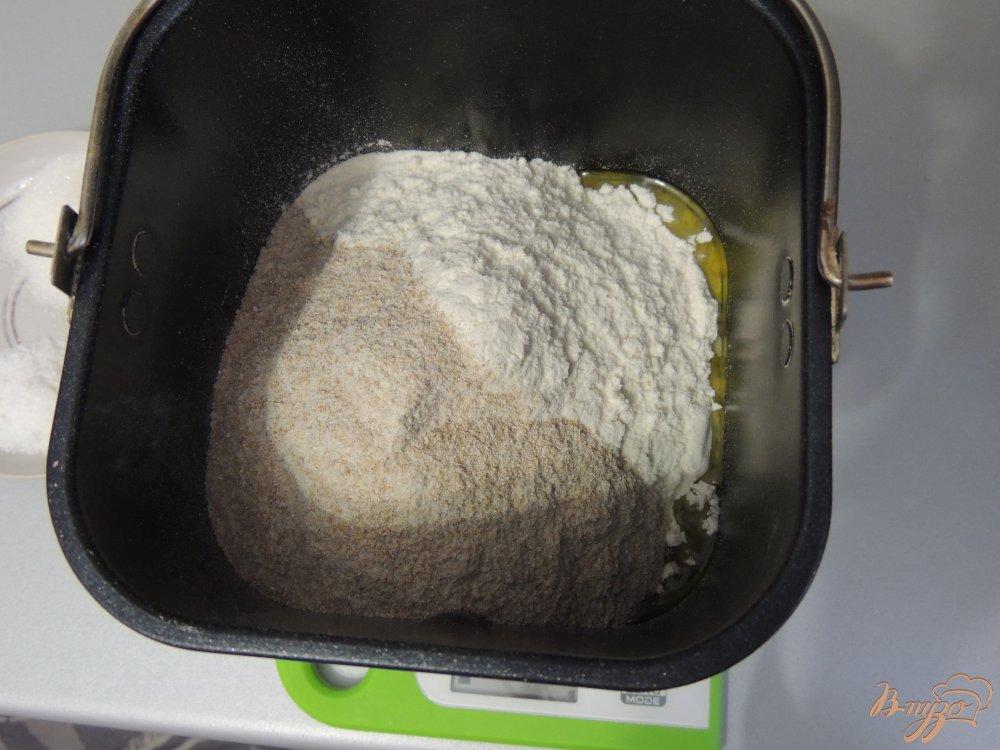 Фото приготовление рецепта: Итальянский хлебушек с цельнозерновой мукой шаг №3
