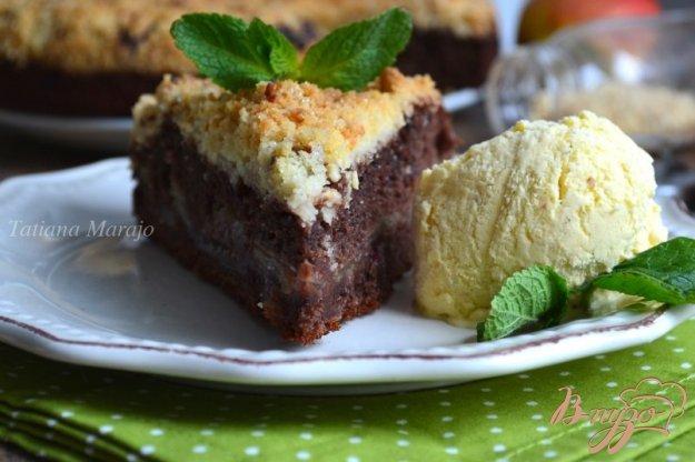 Пирог с яблоками и штрейзелем рецепт пошагово