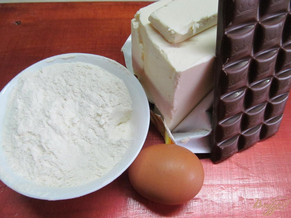 Фото приготовление рецепта: Печенье с шоколадной глазури шаг №1