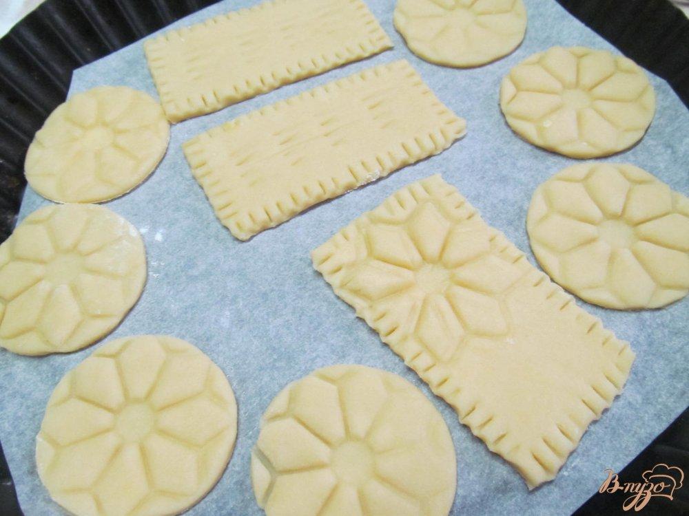 Фото приготовление рецепта: Печенье с шоколадной глазури шаг №5