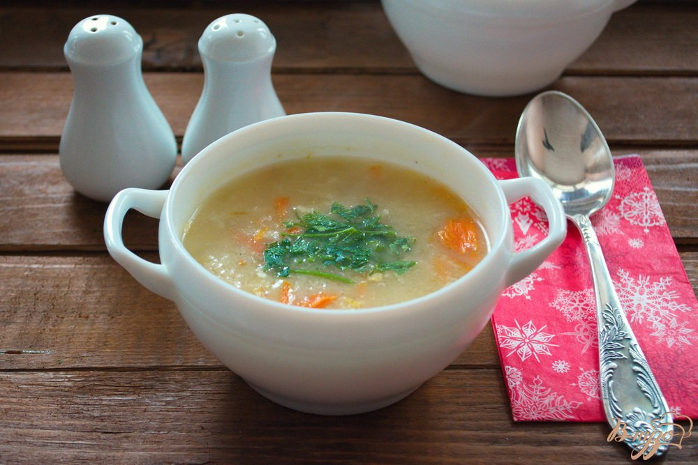 Фото приготовление рецепта: Суп-затирка с курицей шаг №9