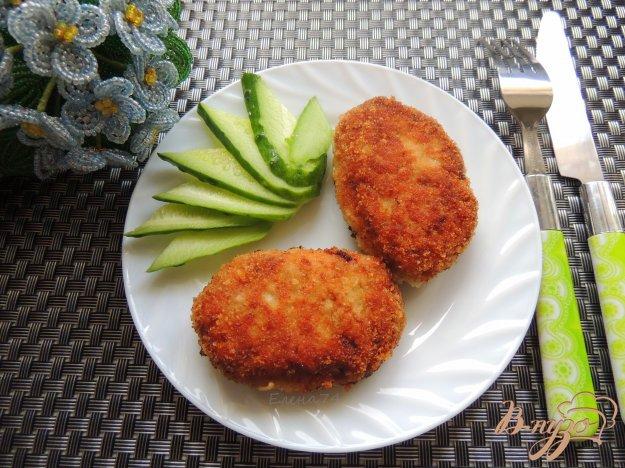 фото рецепта: Куриные котлеты с грибами и овсянкой