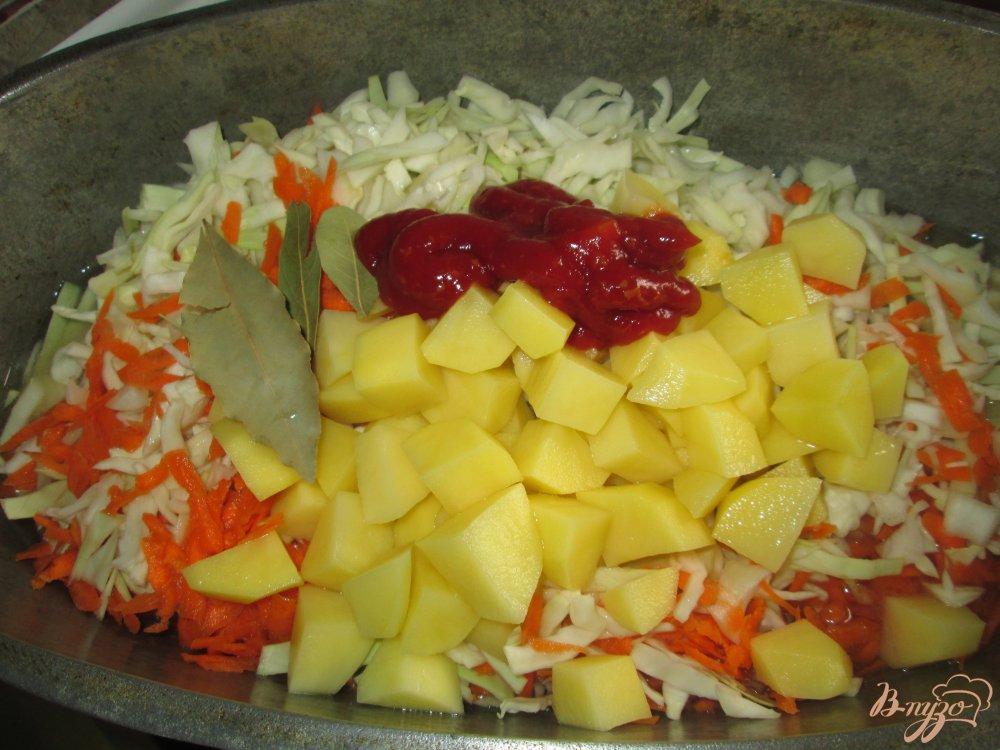 Фото приготовление рецепта: Солянка с кроликом шаг №6
