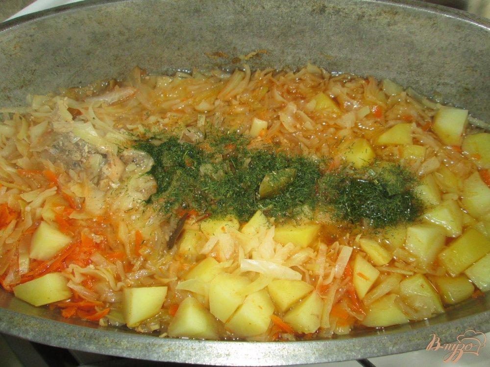 Фото приготовление рецепта: Солянка с кроликом шаг №7