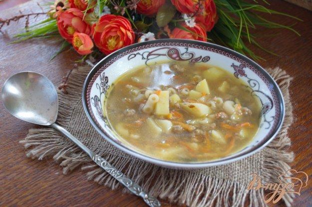 фото рецепта: Наваристый суп на мясе с макаронами