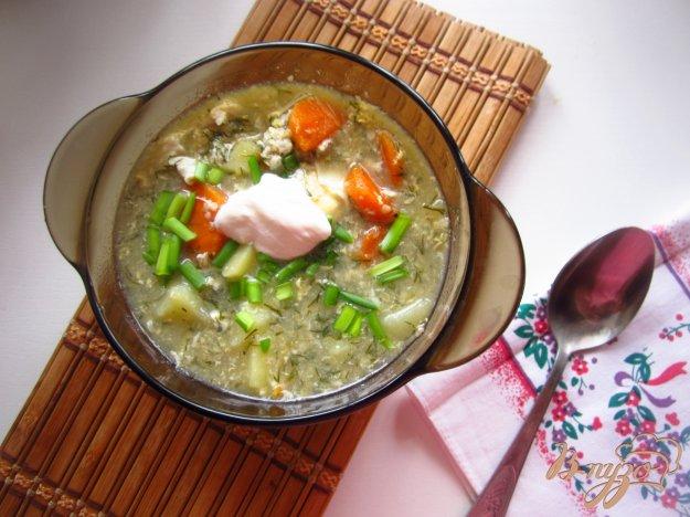 фото рецепта: Суп с яйцом и зеленью