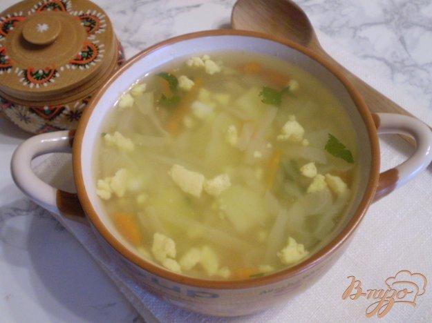 фото рецепта: Суп капустный с пшеном и яйцами