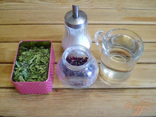 Фото приготовление рецепта: Чай из каркаде и мяты шаг №1