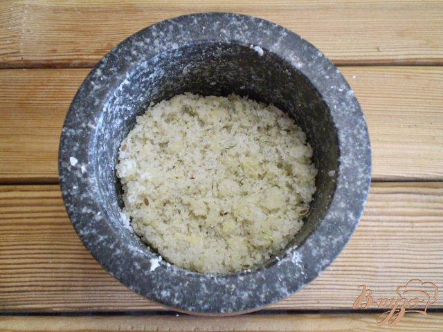 Фото приготовление рецепта: Адыгейская чесночная соль шаг №7