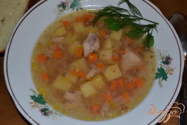 фото рецепта: Гречневый суп с голенями в мультиварке