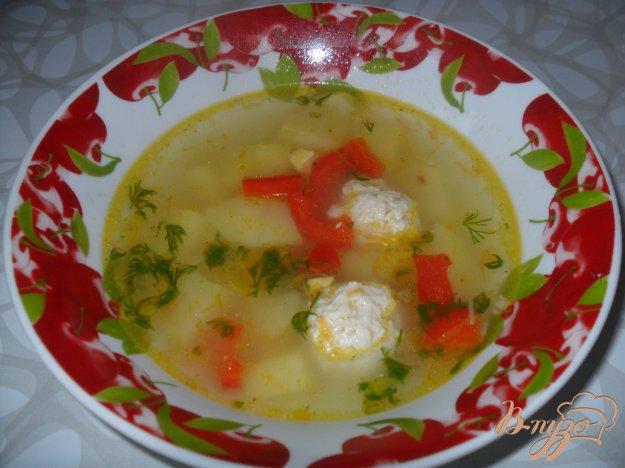 фото рецепта: Вермишелевый суп с фрикадельками и яйцом