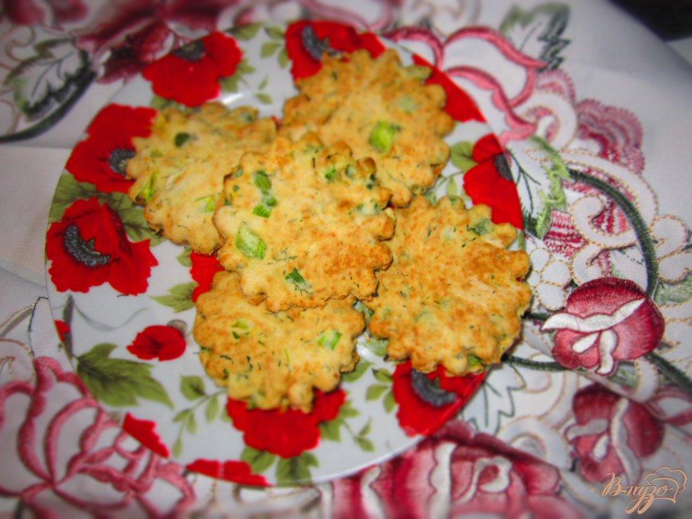 Фото приготовление рецепта: Коржики с зеленью шаг №6