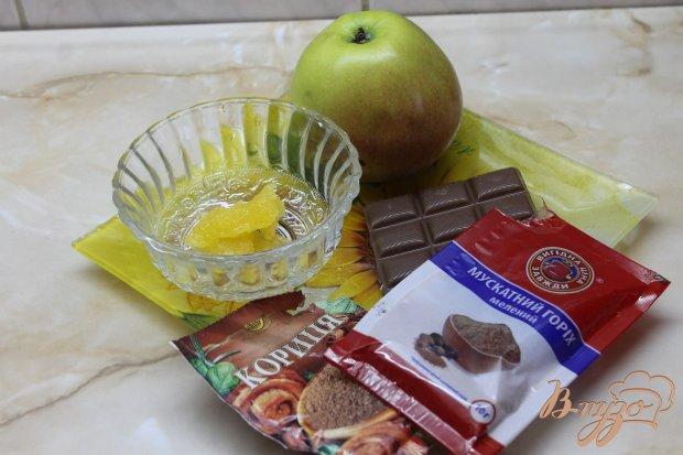 Рецепт Запеченное яблоко с медом и специями в шоколаде