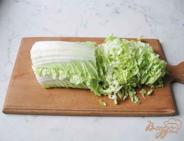 Салат из пекинской капусты с апельсиновой заливкой