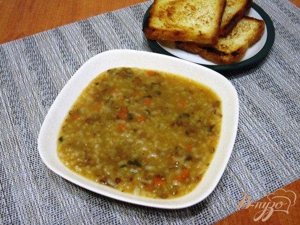 Суп с рисом и чечевицей
