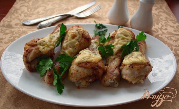 Куриные голени под сыром