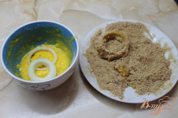 Луковые кольца фри с соевым соусом