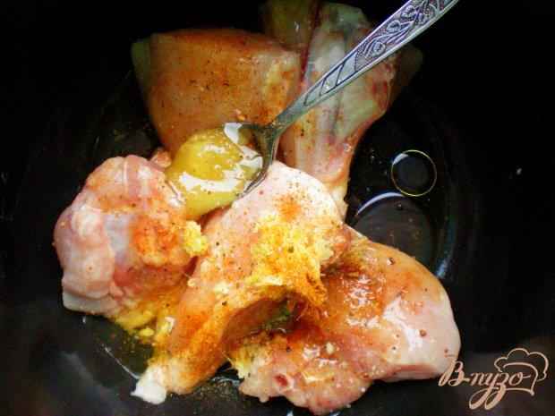 Курица с имбирем и медом в мультиварке