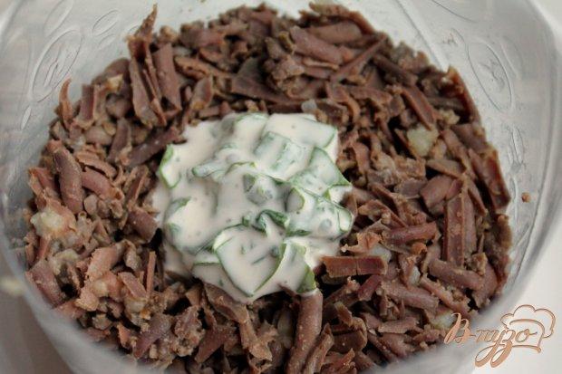 Салат слоеный с говяжьей печенью
