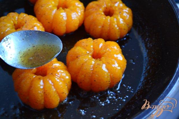 Десерт с карамелизированными мандаринами