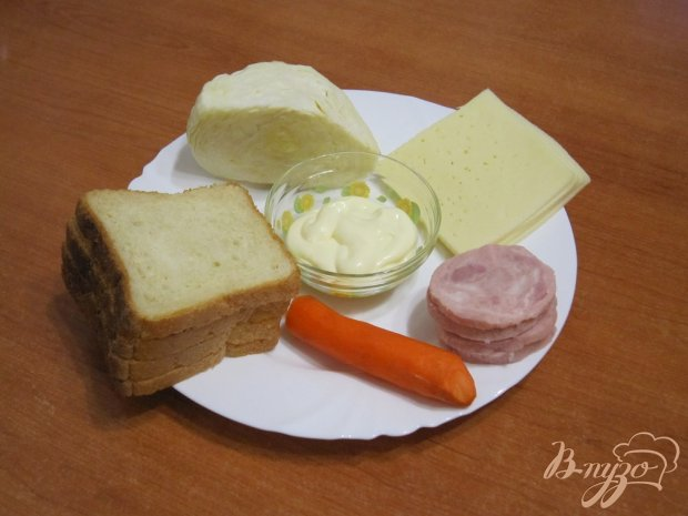 Рецепт Бутерброды с сыром, ветчиной и салатом