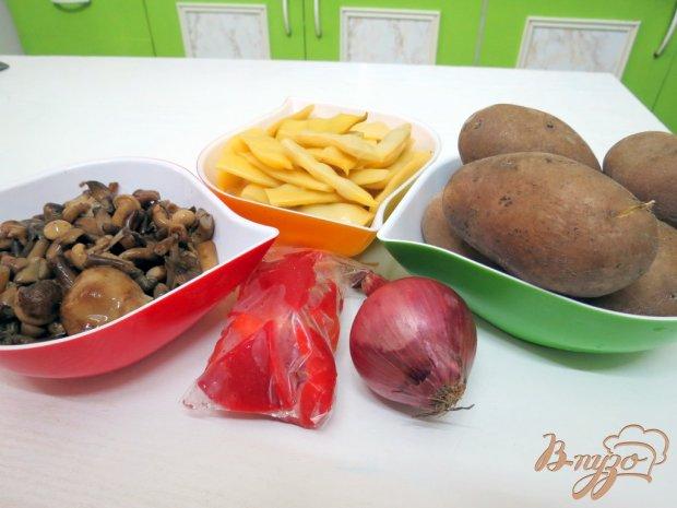 Рецепт Салат с опятами и спаржевой фасолью