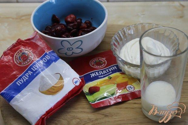 Рецепт Десерт вишнево - сметанный