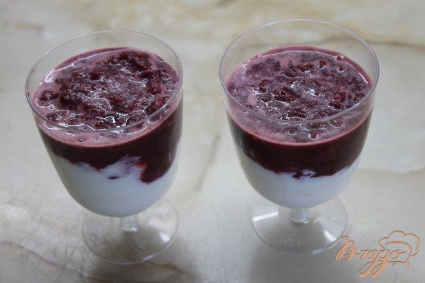 Десерт вишнево - сметанный
