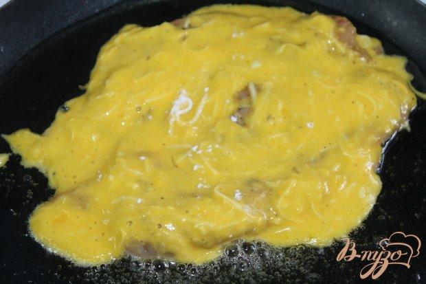 Куриная отбивная в сырной панировке с грибами
