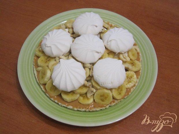 Торт с зефиром и бананами
