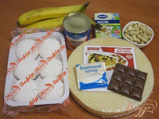 Рецепт Торт с зефиром и бананами