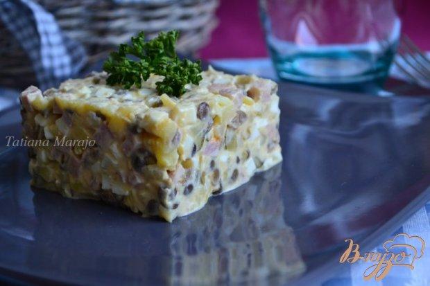 Зимний салат с чечевицей