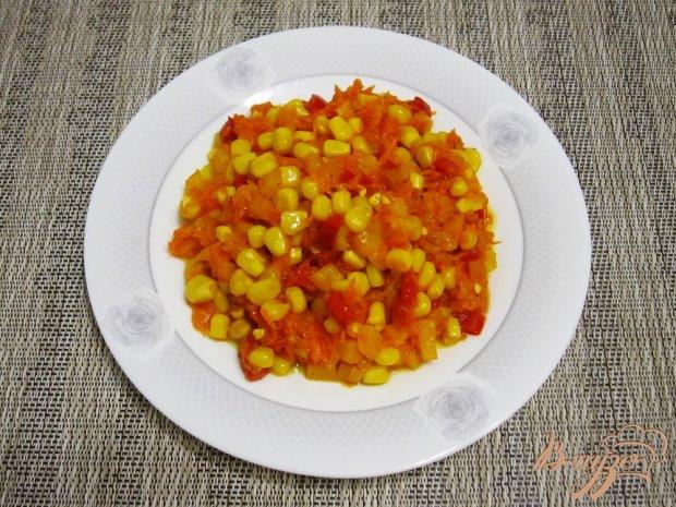 Гарнир из перца и кукурузы