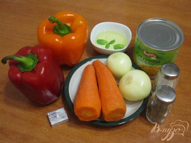 Рецепт Гарнир из перца и кукурузы