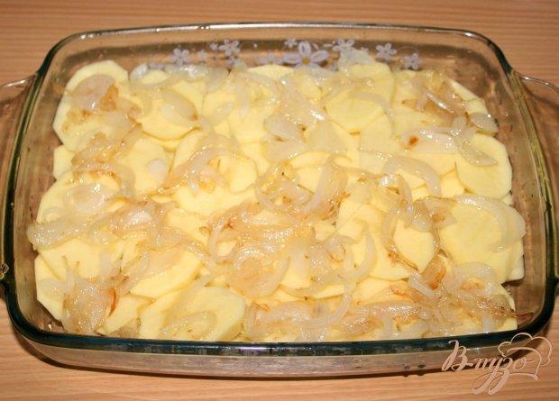 Картофель,запеченный с лососем