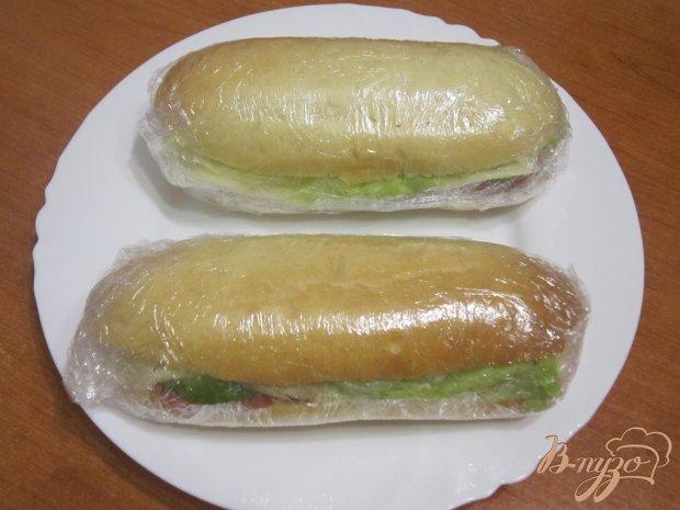Сэндвичи с сыром и ветчиной