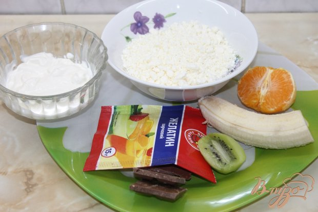 Рецепт Шоколадно - творожный десерт с фруктами